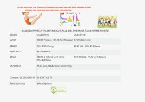 Horaires Gym